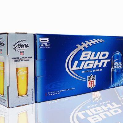 Bud Light NFL Glass